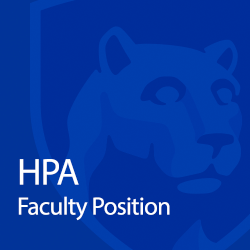 HPA faculty position and lion shield