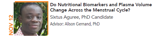 Sixtus Aguree, Do Nutritional Biomarkers and Plasma Volume Change Across the Menstrual Cycle?