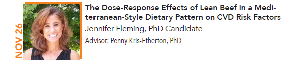 Jennifer Fleming, The Dose-Response Effects of Lean Beef in a Mediterranean-Style Dietary Pattern on CVD Risk Factors