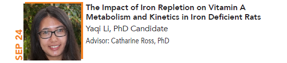Yaqi Li, The Impact of Iron Repletion on Vitamin A Metabolism and Kinetics in Iron Deficient Rats