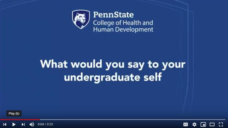 What advice would you tell your undergraduate self?