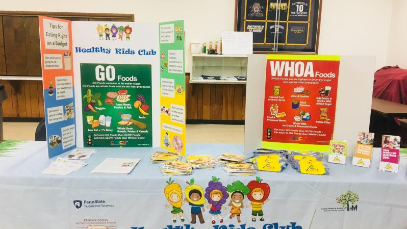 "Healthy Kids Club ""GO"" & ""WHOA"" foods display teaches children healthful eating"