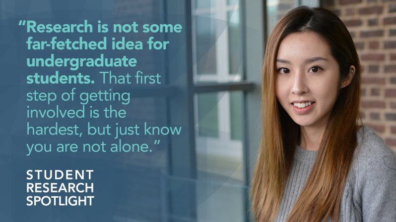 "Dixin Xie - ""Research is not some far-fetched idea for undergraduates students. That first step of getting involved is the hardest, but just know you are not alone."" Student Research Spotlight"