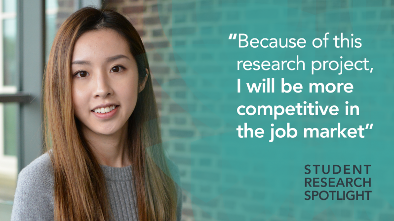 "Dixin Xie - ""Because of this research project, I will be more competitive in the job market."" Student Research Spotlight"