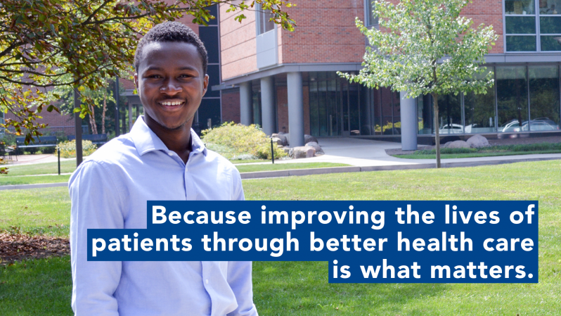 Manny Houndo - Because improving the lives of patients through better health care is what matters.