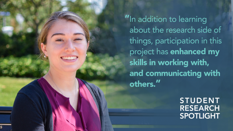"""In addition to learning about the research side of things, participation in this project has enhanced my skills in working with, and communicating with others."""