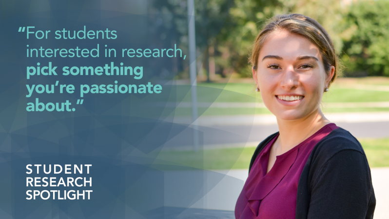 For students interested in research, pick something you're passionate about.