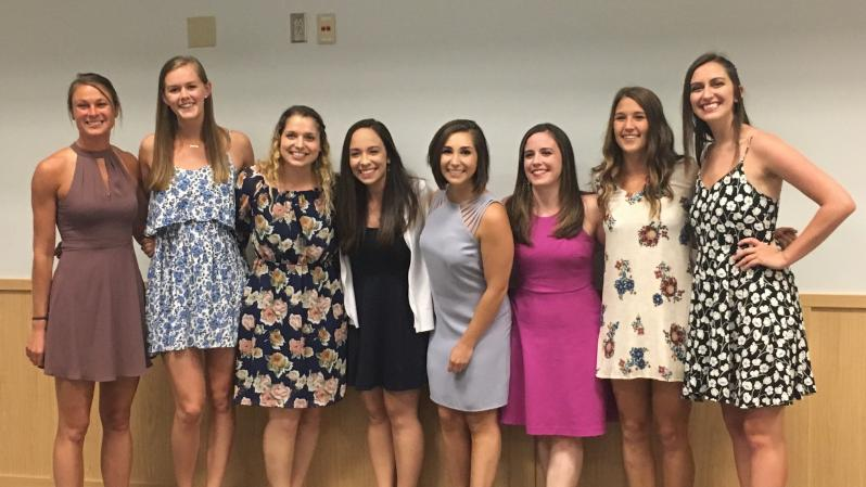 Dietetic interns celebration completion of their program requirements