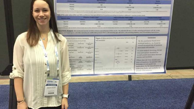 Samantha Neumann presents a study at the American Society of Nutrition (ASN) 2018 meeting.