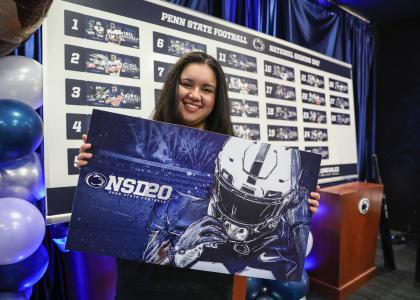 Destiny Rodriguez at National Signing Day 2020
