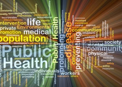 Population health word cloud illustration