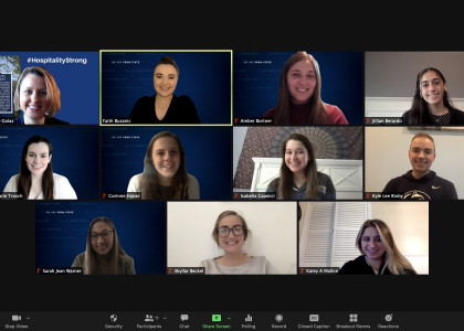 Penn State students on Zoom for PCMA virtual Convening Leaders conference