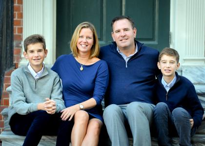 Penn State alumni William and Kathryn Donato and their sons, Billy and Nick