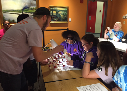 Summer academy students learn about mineral structures