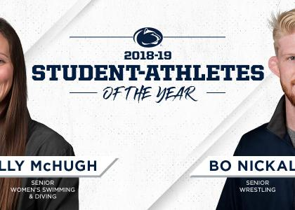 Ally McHugh and Bo Nickal named Penn State's 2018-19 Female and Male Student-Athletes of the Year
