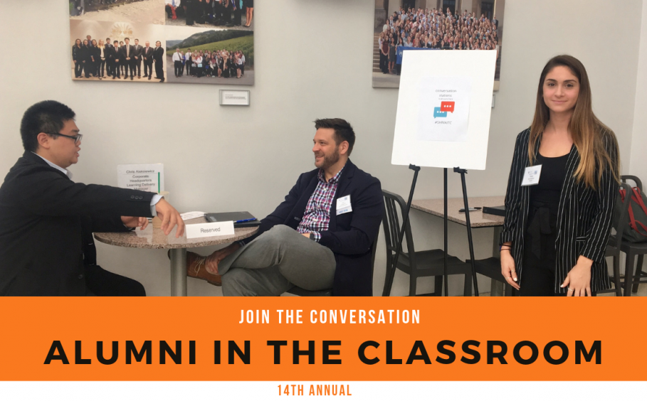 Join the conversation at the 14th annual Alumni in the Classroom
