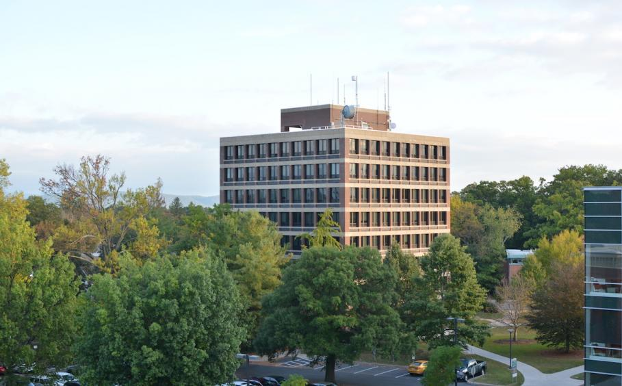 Ford Building aerial shot