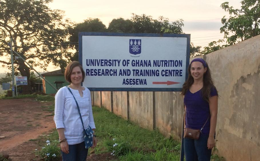 Professor and student at the University of Ghana Nutrition Research and Training Center.