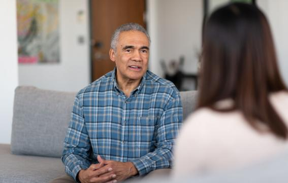 Older man receiving therapy